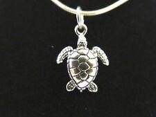 Sterling Silver Pendant 3D Baby Sea Turtle DAKOTA WEST Beach Charm 925 NEW B9