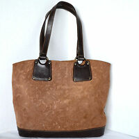 CAPACCIOLI Womens Tote BROWN LEATHER PAISLEY Satchel Handbag Purse Bag Italy