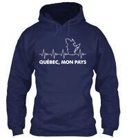 In style 100+ Vendus!!! Québec Mon Pays - Quebec,mon Gildan Hoodie Sweatshirt