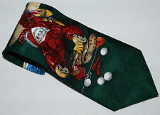 Tabasco Mens Necktie Tie Lobster Golf Peppers 100% Silk 58 inch