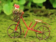 Bicycle with Woodland Mushrooms ~ Miniature ~ Fairy Garden  ~ Bike ~ Handmade
