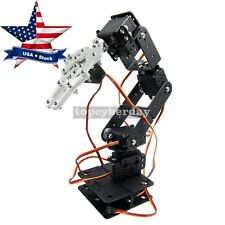 Robot 6 DOF Arm Mechanical Robotic Arm Clamp Claw Mount Kit for Arduino US