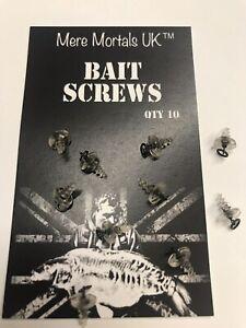 Bait Screws with Micro Flexi Ring Hook Swivel. Carp Fishing Tackle