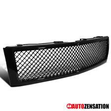 For 2007-2013 Chevy Silverado 1500 Truck Glossy Black Mesh Bumper Hood Grille