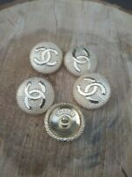 5 Chanel Gold Button Replacement Stamp Sewing Accessories