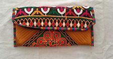 Indian Handicraft Ethnic Vintage Clutch Wallet Mobile Multi colour Evening Pouch
