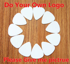 Customize Services 100pcs  0.46/0 .71/ 1.0mm Exclusive Own Logo Guitar Picks