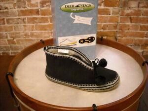 Deer Stags Slipperooz Mutsy Black Microsuede Slipper Booties 11 Sale