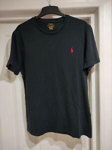 Men's Ralph Lauren T Shirt Black Large Slim Fit