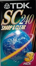 TDK SC240 Sharp & Clear 4 Hour VHS VCR Video Tapes Factory