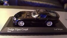 1993 DODGE VIPER COUPE in Black 1/43 scale model by Minichamps
