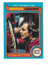 GUY LAFLEUR AUTOGRAPH 1979-80 TOPPS HOCKEY CARD SIGNED MONTREAL CANADIANS