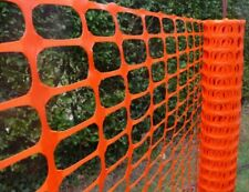 ACTIVE ORANGE PLASTIC BARRIER MESH 1m x 50m ROLL - SITE SAFETY, HI-VIS, FENCING