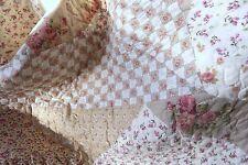 Tagesdecke ALBA 230x260 Doppelbett creme braun natur Plaid Patchwork Landhaus