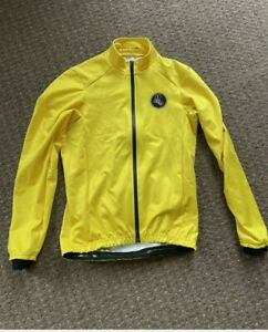 Attacus Cycling Yellow Shield Winter Jacket Mens Size Small Not Castelli Gabba