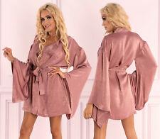 LIVCO CORSETTI Faomi Luxury Super Soft Decorative Silky Dressing Gown / Robe