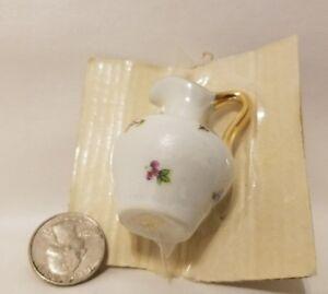 Vintage Bardet Limoges France Dollhouse Miniature Porcelain Ceramic Pitcher Vase