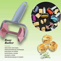 Kitchen DIY Cookie Cutter Roller Baking Tools Dough Roller Lattice Cutter