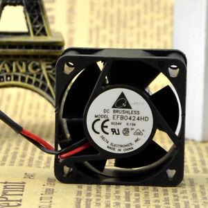 Delta EFB0424HD 4020 24V 0.1A 4CM 2wire Double Ball Inverter Fan