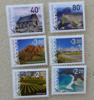 2016 NEW ZEALAND SCENIC DEFINITIVES SET OF 6 MINT STAMPS