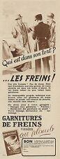 Y8401 Garnitures de Freins TISSEES - Pubblicità d'epoca - 1937 Old advertising