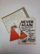 Orange Mailbox Alert Signal Flag Lets you Stay Inside until Mail is delivered!