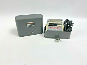 Vintage Schick Custom Electric Razor Sideburn Trimmer with Case Working