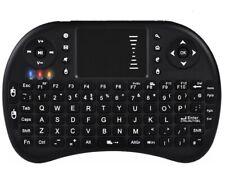 Backlit  2.4G Mini Wireless Keyboard Touchpad Mouse Combo British BLACK Recharge