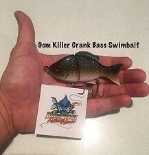"New 9cm ""Killer Crank"" Bass Jointed Swimbait Fishing Lure 30g Murray Cod"