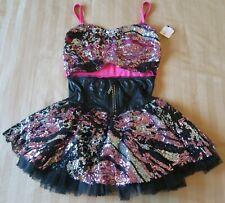 Euc Black Pink Sparkly Tutu Ice Skating / Dance Dress Size Child L