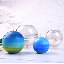 Ball Shaped Plastic Candle/Soap Mold Diy Candle Making Craft Clay Mould