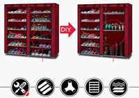 Shoe Rack Shelf Storage Closet Organizer Cabinet Portable with Dustproof Cover
