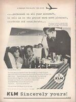 1962 Original Advertising' Klm Dutch Airlines Company Aerial Genuine Ospitalit