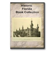 Florida FL State County History Culture Family Tree Genealogy Book Set - B333
