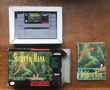 Secret Of Mana NTSC SNES + Map