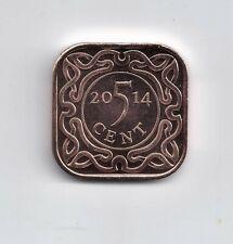 SURINAME 5 cent 2014 UNC