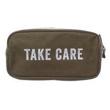 """IZOLA Army Green """"Take Care"""" Shave Kit Dopp Kit NEW!"""