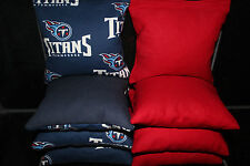 Tennessee Titans 8 Cornhole Bean Bag Toss Baggo Nfl Top Quality Handmade! New!