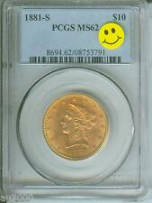 1881-S $10 LIBERTY EAGLE PCGS MS62 NICE MS-62 BETTER DATE Premium Quality P.Q.