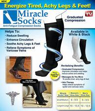 Unisex Compression Socks Relief for Aching Feet Varicose Veins DVT Flight Travel