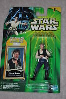 STAR WARS POWER OF THE JEDI HAN SOLO DEATH STAR ESCAPE FORCE FILE HASBRO MOSC