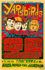 1960's Psychedelic:  The Yardbirds at Santa Monica Civic Concert Poster 1968