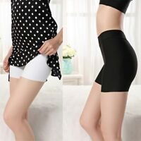 Silk Breathable Silky Feel Lingerie Underwear High Waist Safety Short Pants