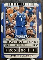 2020 Panini Contenders Draft Picks Prospect Ticket Zion Williamson (RC) #13