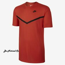 Nike Futura Mesh Panel Print Men's T-Shirt L Red Black Gym Casual Training New