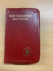 GIDEONS BIBLE NEW TESTAMENT AND PSALMS TINY BURGUNDY FAUX LEATHER BOOK (P2)