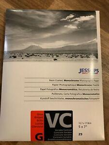"Jessop Variable Contrast 25 sheet 5 x 7"" Gloss Darkroom Blk  & White Photo Paper"