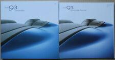 2006/2007 Saab 93 Convertible inc V6, Linear Vector Aero UK brochure, Price List