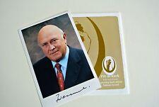 FW de Klerk SIGNED Autograph Official Photo & Booklet South Africa Politics COA