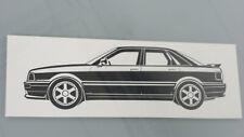 Audi 80 S2 Audi 80 B4 Limosine Audi 80 Aufkleber 2x Sticker schwarz neu